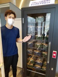 レンタルタオルは全て消毒済のBOXで保管しています。