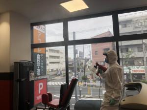 館内除菌消毒清掃