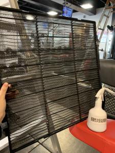 エアコンフィルター定期的に除菌・清掃実施しております