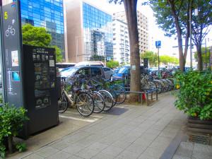 市営の駐輪場