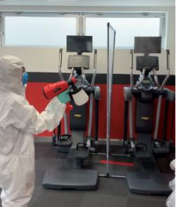 業者による室内除菌消毒清掃