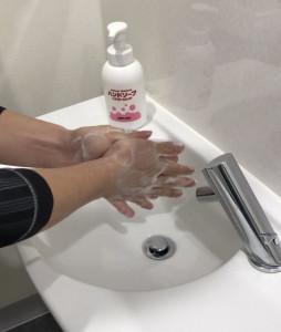 手洗い 消毒のお願い