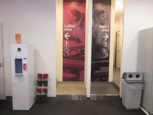 更衣室、水素水サーバー