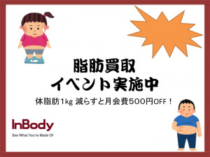 体脂肪買取イベント