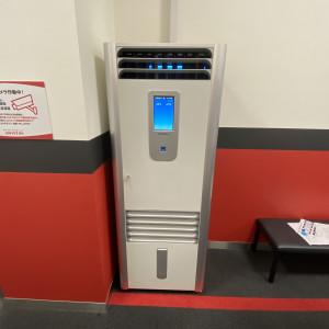 大型空気洗浄機の設置