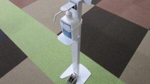感染症対策⑨ 足踏み式アルコールスタンドの設置