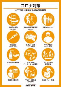 JOYFIT感染予防対策一覧