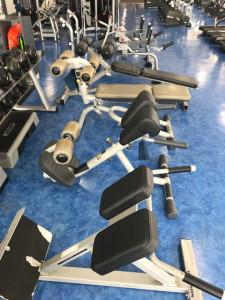 腹筋トレーニングエリア