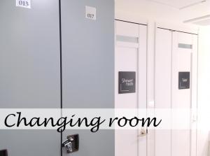 男女別の更衣室